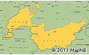 Savanna Style Simple Map of Genferseeregion