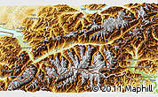 Physical 3D Map of Valais