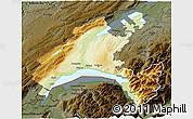 Physical 3D Map of Vaud, darken