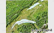 Satellite 3D Map of Vaud