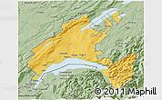 Savanna Style 3D Map of Vaud