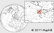 Blank Location Map of Vaud