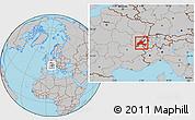 Gray Location Map of Vaud