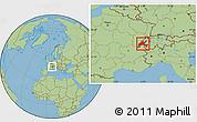 Savanna Style Location Map of Vaud