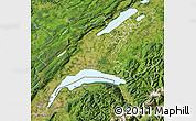 Satellite Map of Vaud