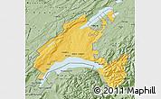 Savanna Style Map of Vaud