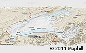 Classic Style Panoramic Map of Vaud