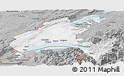 Gray Panoramic Map of Vaud
