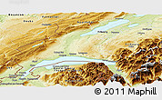 Physical Panoramic Map of Vaud
