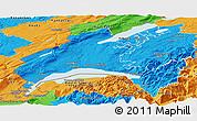 Political Panoramic Map of Vaud