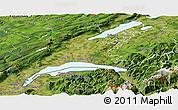 Satellite Panoramic Map of Vaud