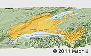 Savanna Style Panoramic Map of Vaud