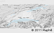 Silver Style Panoramic Map of Vaud