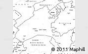 Blank Simple Map of Vaud