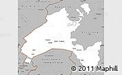 Gray Simple Map of Vaud