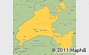 Savanna Style Simple Map of Vaud