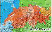 Political Shades Map of Switzerland