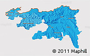 Political Shades 3D Map of Nordwestschweiz, cropped outside