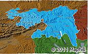 Political Shades 3D Map of Nordwestschweiz, darken