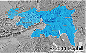 Political Shades 3D Map of Nordwestschweiz, desaturated