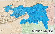 Political Shades 3D Map of Nordwestschweiz, lighten