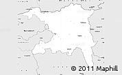 Silver Style Simple Map of Aargau