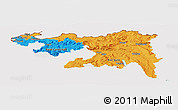 Political Panoramic Map of Nordwestschweiz, cropped outside
