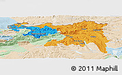 Political Panoramic Map of Nordwestschweiz, lighten