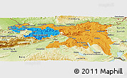 Political Panoramic Map of Nordwestschweiz, physical outside