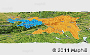 Political Panoramic Map of Nordwestschweiz, satellite outside