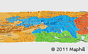 Political Shades Panoramic Map of Nordwestschweiz