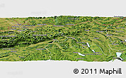 Satellite Panoramic Map of Nordwestschweiz