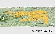 Savanna Style Panoramic Map of Nordwestschweiz
