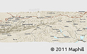 Shaded Relief Panoramic Map of Nordwestschweiz
