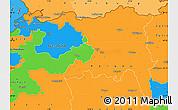 Political Simple Map of Nordwestschweiz