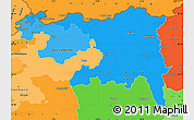 Political Shades Simple Map of Nordwestschweiz