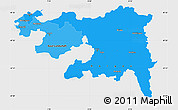 Political Shades Simple Map of Nordwestschweiz, single color outside
