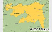 Savanna Style Simple Map of Nordwestschweiz