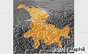 Political Shades 3D Map of Ostschweiz, darken, desaturated