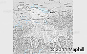 Silver Style 3D Map of Ostschweiz