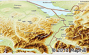 Physical 3D Map of Appenzell Ausser-Rhoden