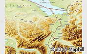 Physical Map of Appenzell Ausser-Rhoden