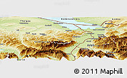 Physical Panoramic Map of Appenzell Ausser-Rhoden