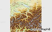 Physical Map of Ostschweiz