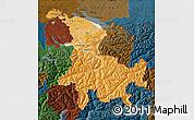 Political Shades Map of Ostschweiz, darken