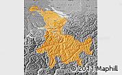 Political Shades Map of Ostschweiz, desaturated