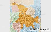 Political Shades Map of Ostschweiz, lighten