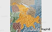 Political Shades Map of Ostschweiz, semi-desaturated