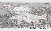 Gray Panoramic Map of Ostschweiz