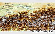 Physical Panoramic Map of Ostschweiz